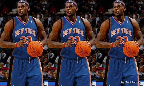 """Lebron a Knick"" | TheSportsKrazeLebron James Knicks Uniform"