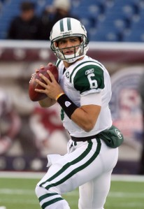 74ac19697 Photo courtesy of zimbio.com. Mark Sanchez (pictured above) has the look of  a savvy veteran as training camp begins.